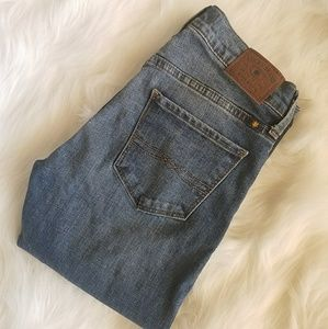 Lucky Brand Brooke Straight Distressed Jeans 25 R